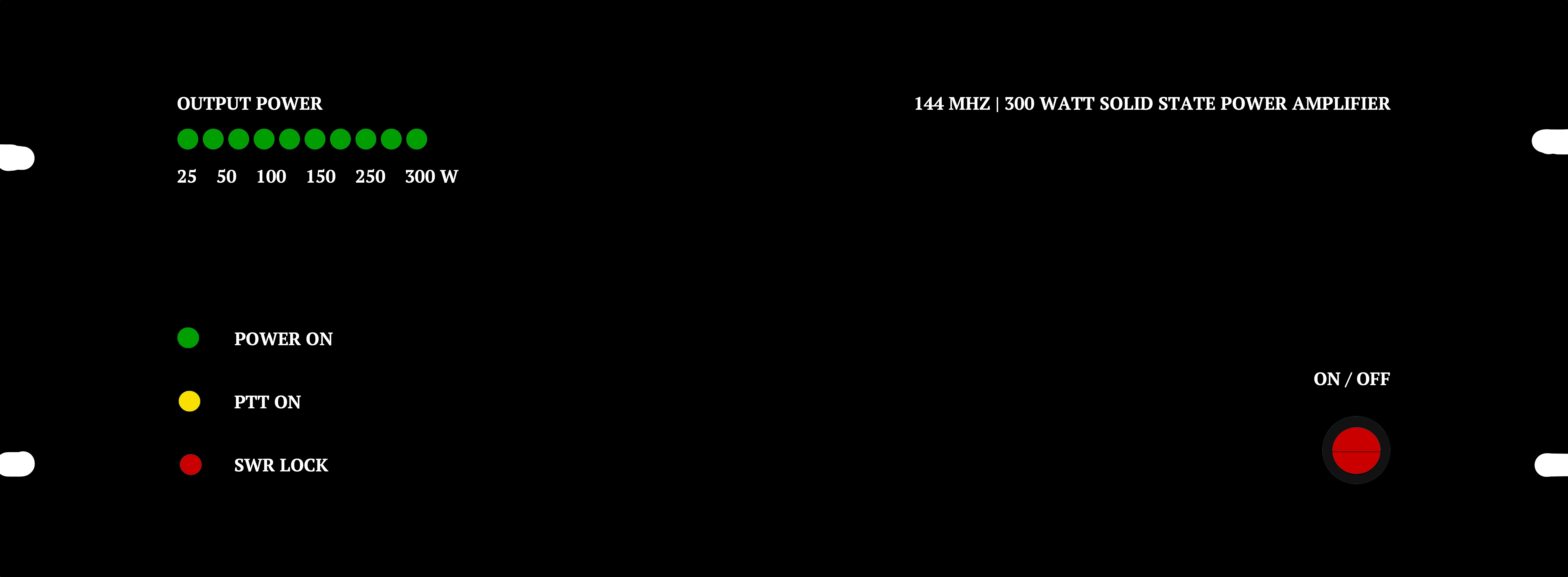 Het front van de BLF248 300 Watt PA