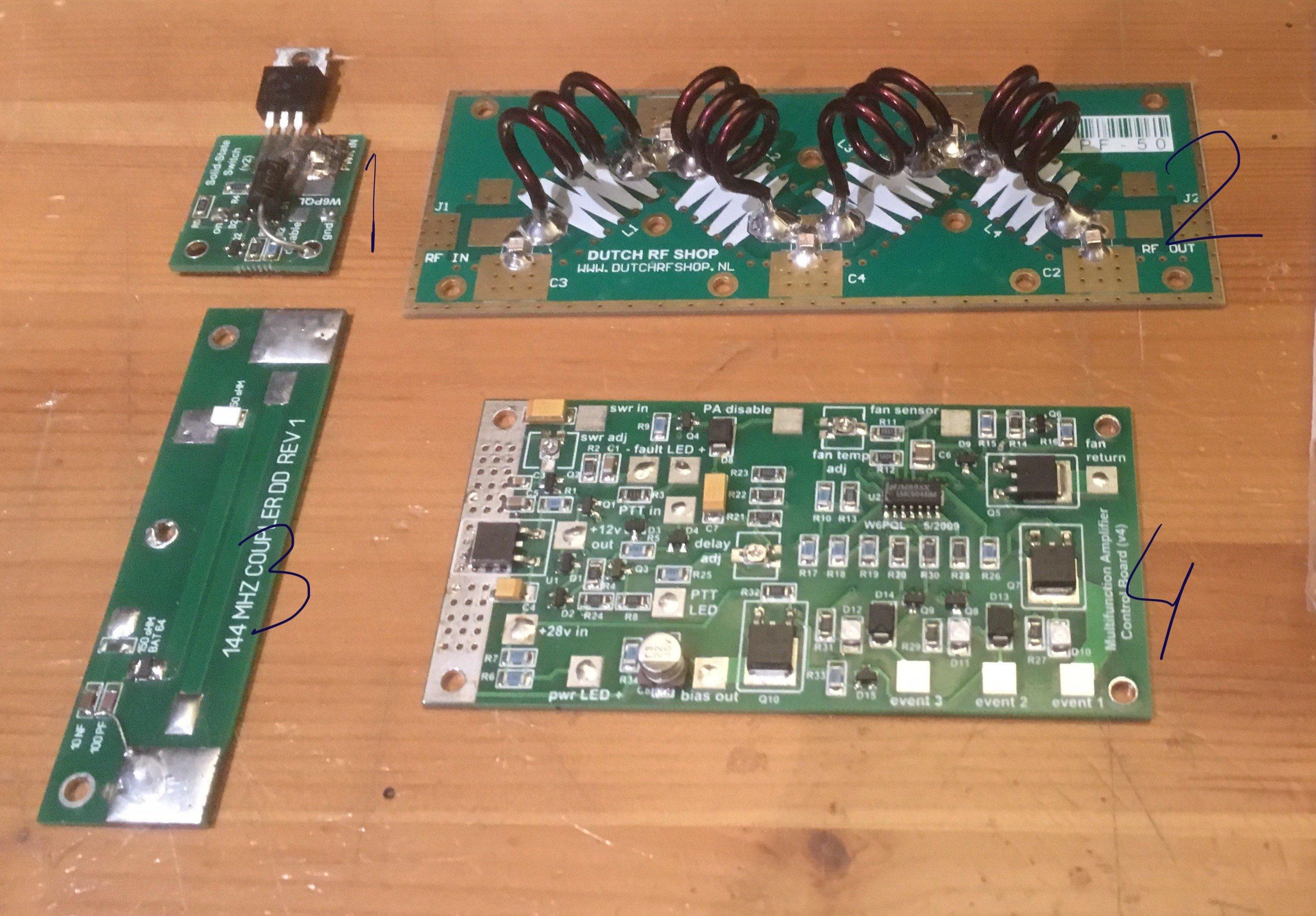 Alles compleet voor de BLF248 144Mhz PA