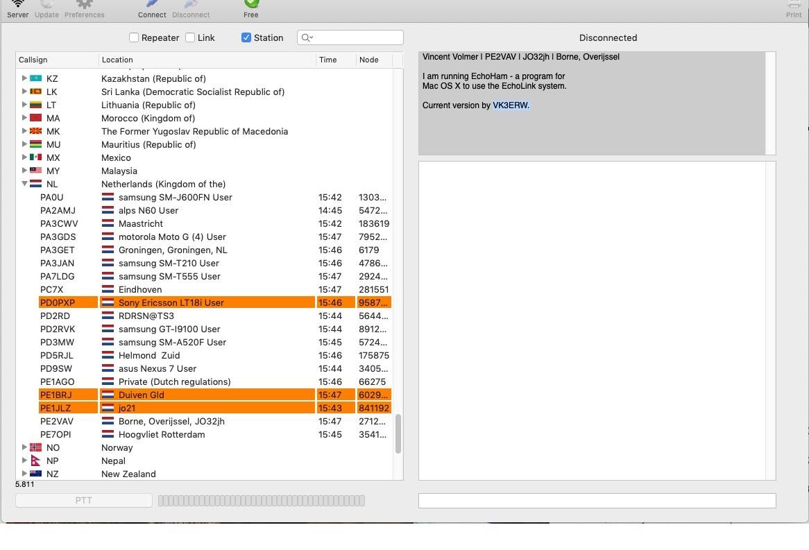 EchoLink met EchoHam op iMac OS