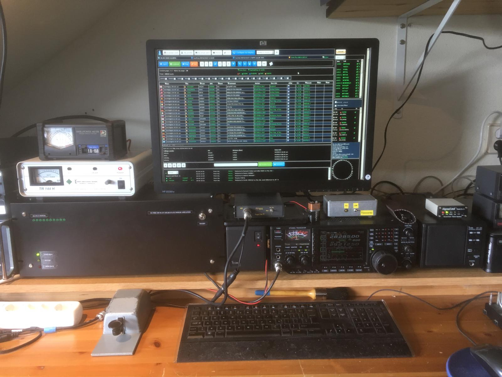 VK4DD BLF248 144Mhz PA in de shack