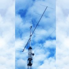 Nieuwe antennemast met 2M9SSB - EA27J - HyEndFed